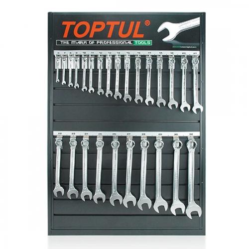 26PCS 15° Offset Super-Torque Combination Wrench Set W/Merchandise Display Board