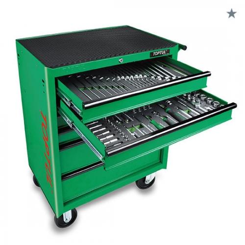 W/6-Drawer Mobile Tool Trolley - 208PCS Mechanical Tool Set