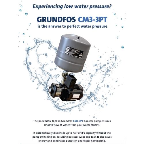 GRUNDFOS CM3-3PT WATER BOOSTER PUMP