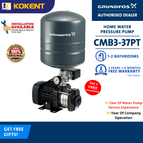 GRUNDFOS CMB3-37PT WATER BOOSTER PUMP (CM3-4PT)