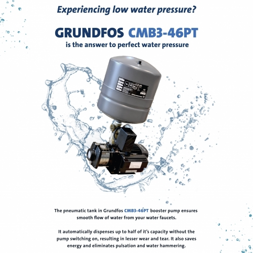 GRUNDFOS CMB3-46PT WATER BOOSTER PUMP (CM3-5PT)