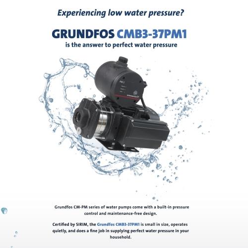 GRUNDFOS CMB3-37PM1 WATER PUMP (0.5HP) (CM3-4PM1)