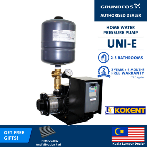 GRUNDFOS VARIABLE SPEED BOOSTER PUMP UNI-E CM3-5 (CMBE3-62)