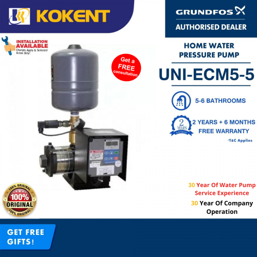 GRUNDFOS VARIABLE SPEED BOOSTER PUMP UNI-E CM5-5 (CMBE5-62)