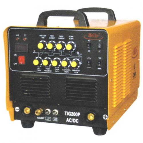MELLO TIG/ARC/PULSE AC/DC (V-MOS) 5-200Amp, 20kg TIG200P AC/DC