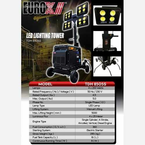 EURO X 8505 LED Lighting Tower (NEW COLOUR)L