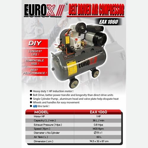 EURO X EAX 1060(L) Belt Driven Air Compressor