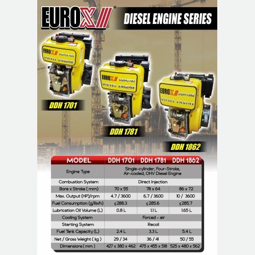EUROX  DDH 1701 1781 1860 (L) DIESEL ENGINE SERIES