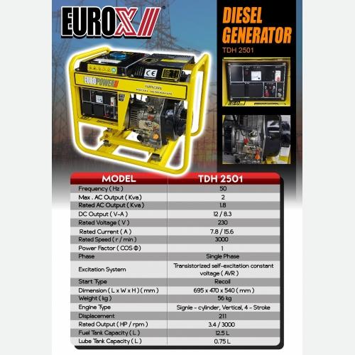 EUROX  TDH 2501 (L) DIESEL GENERATOR