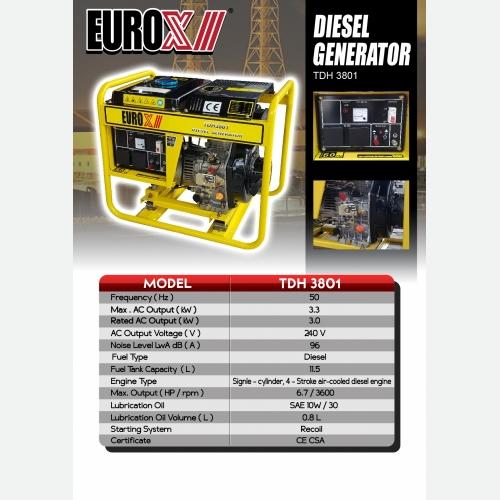EUROX  TDH 3801 (L) DIESEL GENERATOR