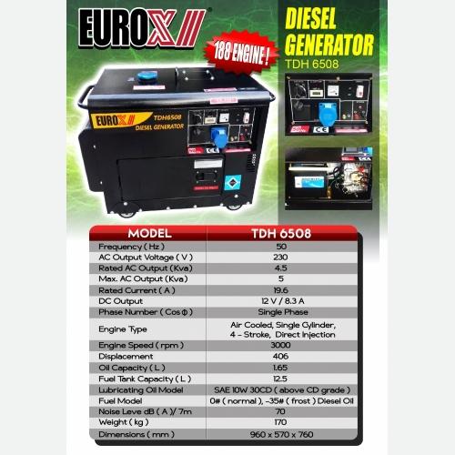EUROX  TDH 6508 (FINAL) DIESEL GENERATOR