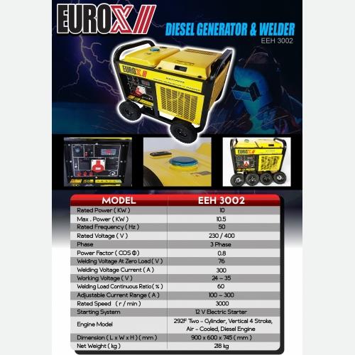 EUROX EEH 3002(FINAL) DIESEL GENERATOR WELDER