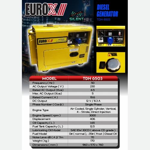 EUROX TDH 6503(FINAL) DIESEL GENERATOR