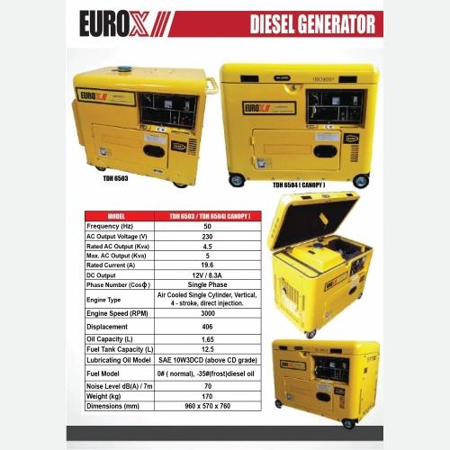 EUROX TDH6503 6504 DIESEL GENERATOR