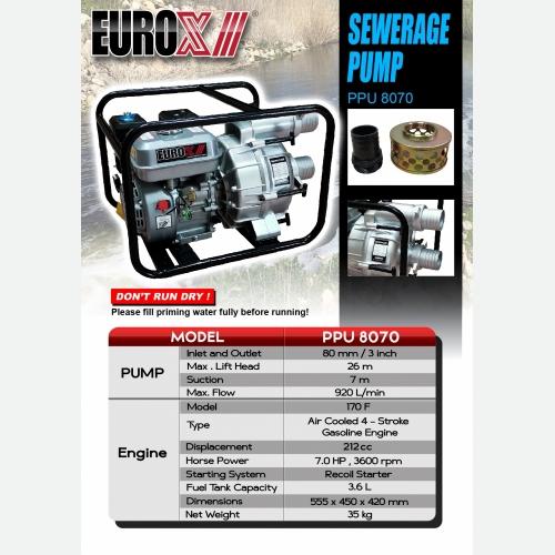 EUROX PPU 8070 (L) SEWERAGE PUMP