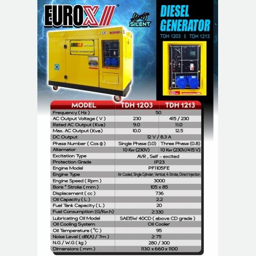 EUROX TDH1203   TDH1213 (L) SILENT DIESEL GENERATOR