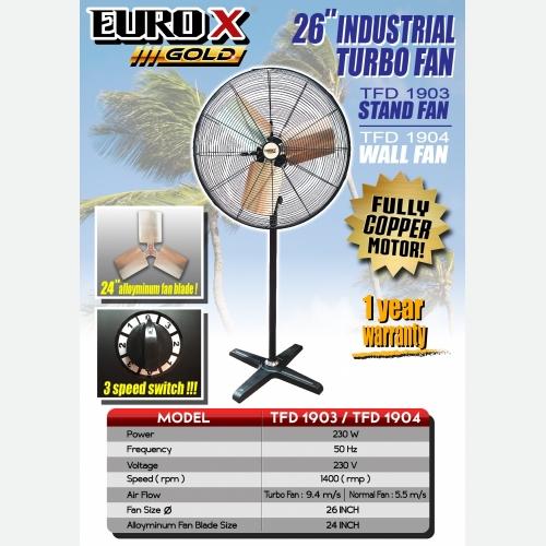 EUROX TFD1903 1904 (L) 26'' INDUSTRIAL TURBO STAND FAN
