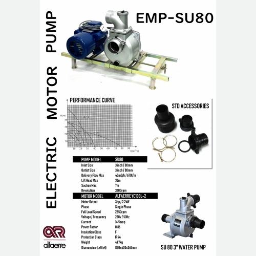 3HP MOTOR WITH 3'' WATER PUMP EMP-SU80