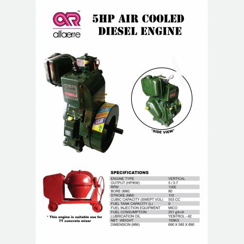 5HP Air Cooled Diesel Engine