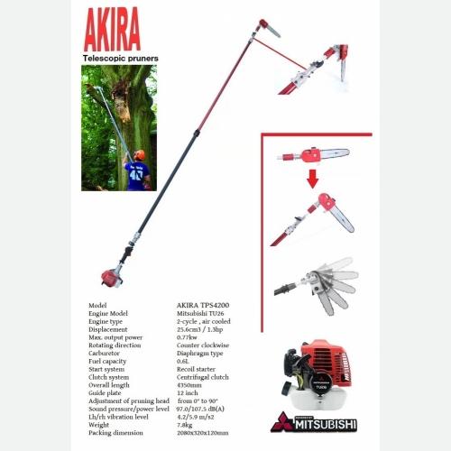 AKIRA TPS4200 TU26 TELESCOPIC POLE PRUNER