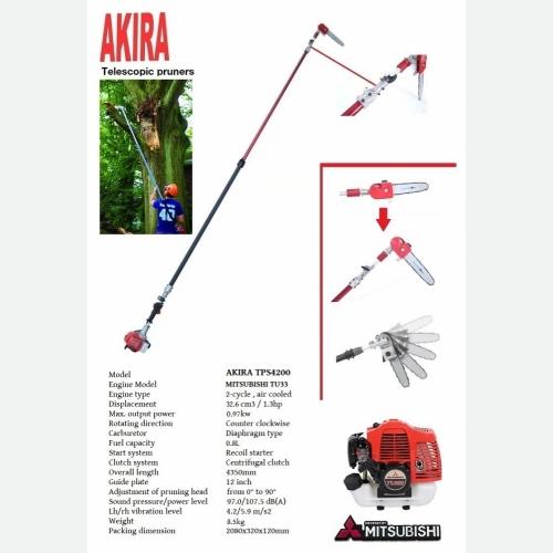 AKIRA TPS4200 TU33 TELESCOPIC POLE PRUNER