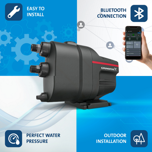Grundfos SCALA1 5-55 Home Living Automatic Water Booster Pump Pam Air 1HP Suitable For 4-5 Bathrooms