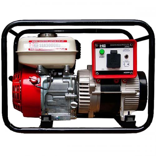 Daishin Honda Engine Generator GX160 2.0kVA 3.6L 35kg SEA3000Ha